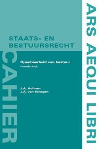 Openbaarheid van bestuur | J.A. Hofman ; J.A. van Schagen |
