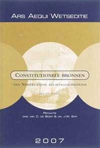 Constitutionele bronnen van Nederlandse rechtsgeschiedenis | Connie de Boer ; J.W. Sap |