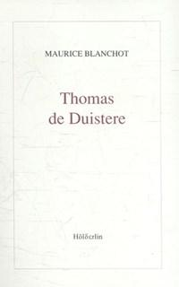 Thomas de Duistere | Maurice Blanchot |