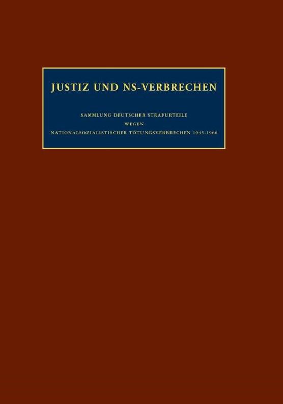 Justiz und ns-verbrechen Band 18