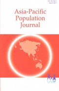 Asia-Pacific Population Journal, 2011, Volume 26, Part 1 | United Nations |