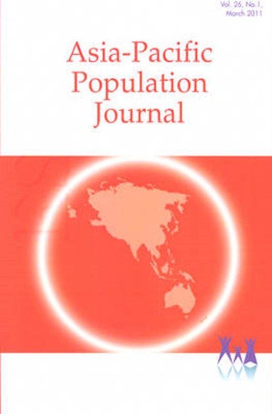 Asia-Pacific Population Journal, 2011, Volume 26, Part 1