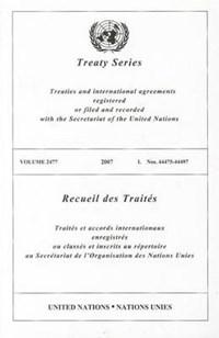 Treaty Series, Volume 2477   auteur onbekend  
