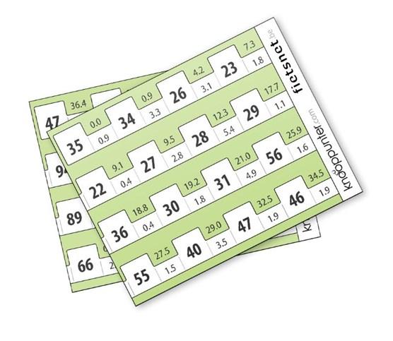 Knooppunter - Set blanco routekaartjes