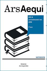 AVG & uitvoeringswet AVG 2018   Ars Aequi Libri  