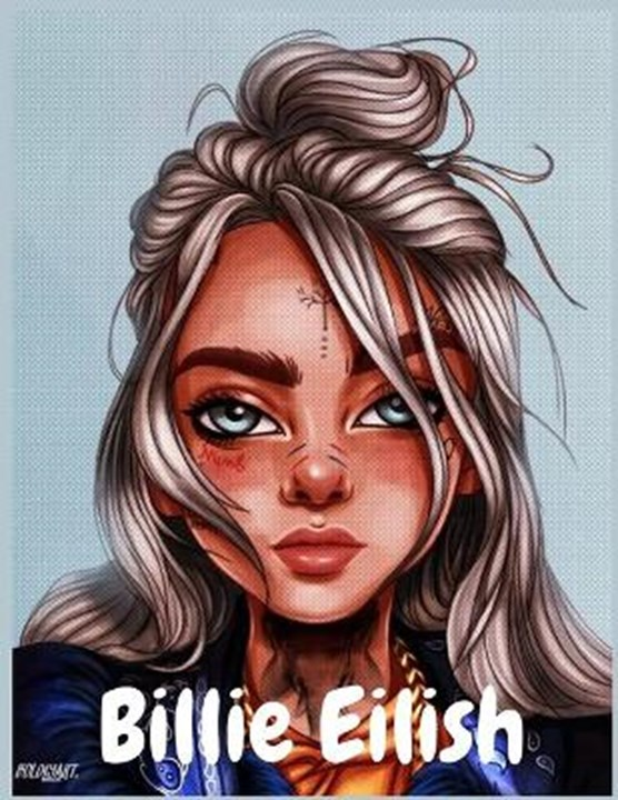 Billie Eilish: Coloring Book, Great Gift For Teens And Adults Who Love Billie Eilish: Highly Addictive