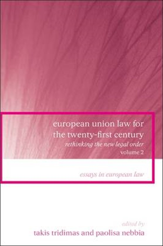 European Union Law for the Twenty-First Century