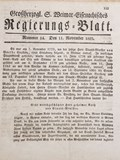 Grossherzogl. & Weimar=Eisenachisches Regierungs=Blatt   Goethe, von, Johann Wolfgang  
