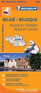 533 België Noord en Midden - Belgique Nord et Centre   Michelin   9782067183445