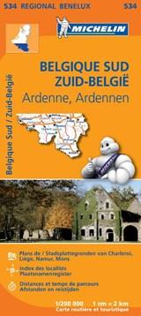 534 Belgique Sud, Ardenne - Zuid-België, Ardennen   Michelin   9782067183483