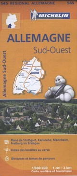 545 Allemagne Sud-Ouest - Zuidwest-Duitsland   Michelin   9782067183643