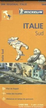 564 Italie Sud - Zuid-Italië   Michelin   9782067184039