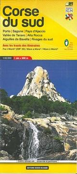 Libris Wanderkarte 09. Corse du sud (GR20) - Porto - Sagone - Pays d'Ajaccio - Vallée de Taravo - Alta Rocca - Aiguilles De Bavella - Rivages du sud. 1 : 60 000 | auteur onbekend | 9782723476720