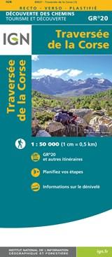 Traversée de la Corse GR20 1:50 000 | auteur onbekend | 9782758550792