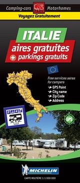 Italy Motorhome Stopovers - Italie aires gratuites 1:1m Michelin Camper stopplaatsen Italië Trailer's Park kaart | auteur onbekend | 9782919004379