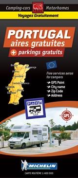 Portugal Motorhome Stopovers - Portugal aires gratuites 1:1m Michelin Camper stopplaatsen Trailer's Park kaart | auteur onbekend | 9782919004393