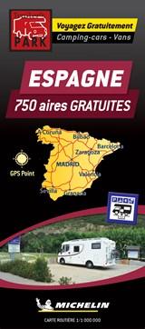 Spain Motorhome Stopovers - Espagne aires gratuites 1:1m Michelin Camper stopplaatsen Spanje Trailer's Park kaart | unknown | 9782919004539