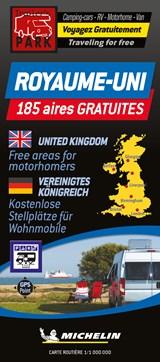 United Kingdom Motorhome Stopovers - Royaume-Uni aires gratuites 1:1M Michelin Camper stopplaatsen Groot-Brittannië Trailer's Park kaart | auteur onbekend | 9782919004782