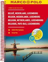 MARCO POLO Reiseatlas Benelux, Belgien, Niederlande, Luxemburg 1:200 000   auteur onbekend   9783829736817
