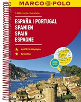 Spanje - Portugal Wegenatlas Marco Polo   auteur onbekend   9783829736893