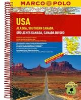 Verenigde Staten / Alaska - Zuid-Canada Wegenatlas Marco Polo   auteur onbekend   9783829737111