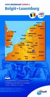 Wegenkaart 2. België/Luxemburg   Anwb   9789018042479