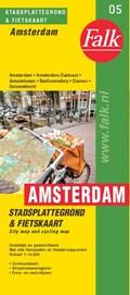 Falk stadsplattegrond & fietskaart Amsterdam   auteur onbekend  