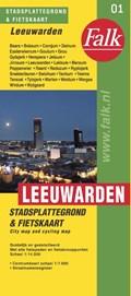 Leeuwarden stadsplattegrond & fietskaart   auteur onbekend  