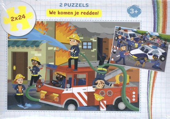 We komen je redden! - puzzel 2 x 24 stukjes