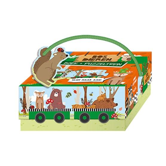 Bosdieren - boek + treinpuzzel