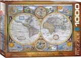 Antique World Map Puzzle | Eurographics Puzzels | 7777777777814
