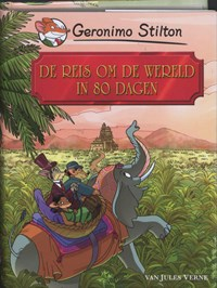 De reis om de wereld in 80 dagen   Geronimo Stilton ; Jules Verne ; Language Link  
